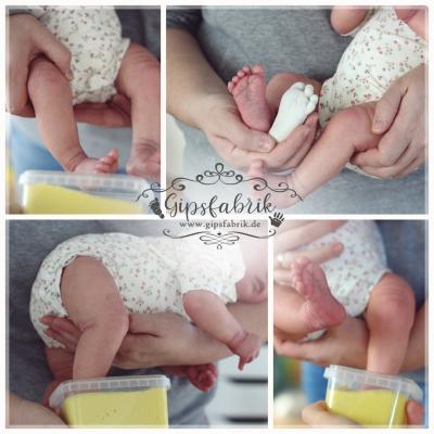 3D Abdrücke Gipsabdrücke Babyhändchen Babyfüßchen kidskreativ Sterne Herzenssache Burghaun