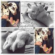 3D Abdruck Fußabdruck Hundepfote Pfotenabdruck Henry Gipsfabrik
