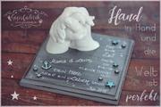 3D Abdruck Familienabdruck Handabdruck Familie Gipsfabrik Levin Hand in Hand Hessen Bayern Thüringen