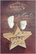 3D Abdruck Fußabdruck Handabdruck Gipsabdruck Baby Gipsfabrik Stern Henry1