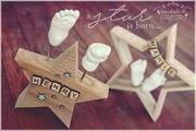 3D Abdruck Fußabdruck Handabdruck Gipsabdruck Baby Gipsfabrik Stern Henry