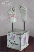 3D Abdruck Gipsabdruck Fußabdruck Handabdruck Sophia Gipsfabrik