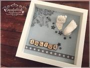3D Abdruck Fußabdruck Handabdruck Gipsabdruck Baby Julius Gipsfabrik