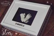 3D Abdruck Fußabdruck Handabdruck Gipsabdruck Gipsfabrik Mads Rahmen