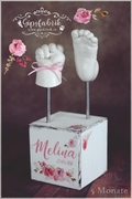 3D Abdruck Gipsabdruck Handabruck Fußabdruck Blumen Gipsfabrik Melina
