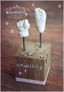 3D Abdruck Fußabdruck Handabdruck Gipsabdruck Baby Gipsfabrik Charlotte