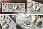 3D Abdruck Fußabdruck Love Gipsfabrik