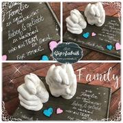 3D Abdruck Handabdruck Familie Familienabdruck Gipsfabrik