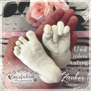 3D Abdruck Fußabdruck Handabdruck Gipsabdruck Baby Gipsfabrik1