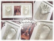 3D Abdruck Fußabdruck Handabdruck Gipsabdruck Gipsfabrik Evelyn
