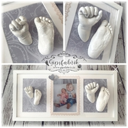 3D Abdruck Familienabdruck Handabdruck Fußabdruck Geschwister Gipsfabrik