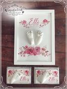 3D Abdruck Fußabdruck Blumen Gipsfabrik Elli2