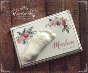 3D Abdruck Fußabdruck Blumen Gipsfabrik Marlene