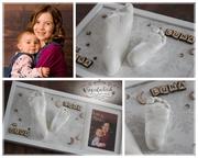 3D Abdruck Fußabdruck Gipsabdruck Geschwisterabdruck Mira Luna Gipsfabrik
