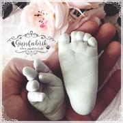 3D Abdruck Fußabdruck Handabdruck Gipsabdruck Baby Gipsfabrik Isabel