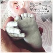 3D Abdruck Fußabdruck Handabdruck Gipsabdruck Baby Gipsfabrik Isabel1