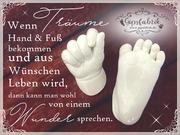 3D Abdruck Fußabdruck Handabdruck Gipsabdruck Baby Gipsfabrik11